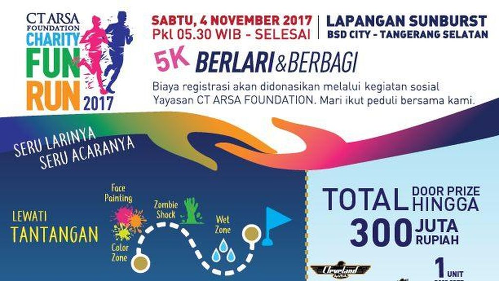 Bertabur Hadiah di CT Arsa Foundation Charity Fun Run
