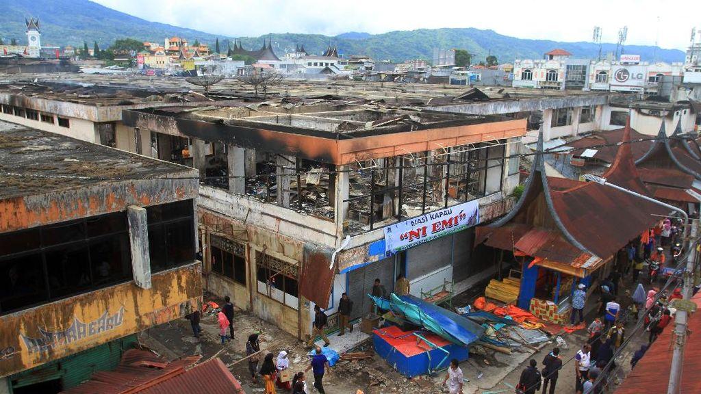 Penampakan Pasar Atas Bukittinggi yang Ludes Terbakar