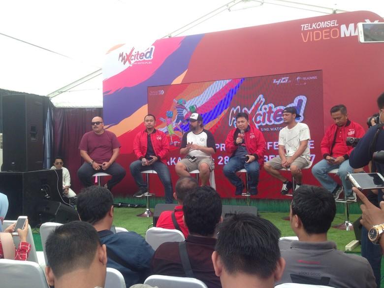 Suasana jumpa pers MAXcited di Makassar. Foto: Ulla Sanusi