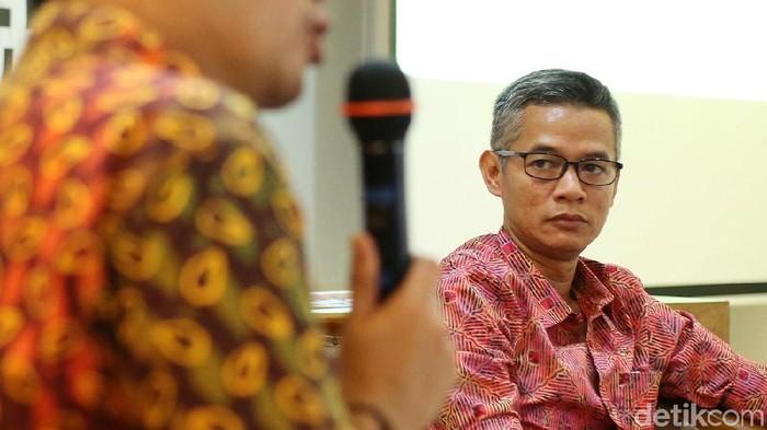 Komisioner KPU Wahyu Setiawan (Ari Saputra/detikcom)