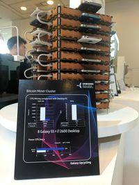 Puluhan Galaxy S5 Disulap Jadi Penambang Bitcoin
