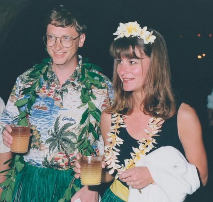 Bill dan Melinda Gates saat muda. Foto: Instagram