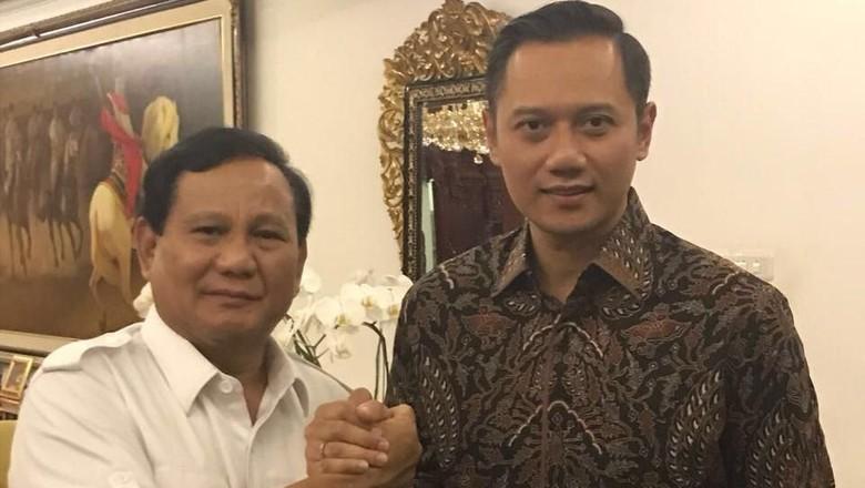 Saling Klaim PD-Gerindra soal AHY Jadi Cawapres Prabowo
