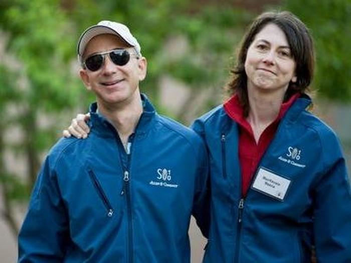 Jeff Bezos dan MacKenzie saat masih bersama. Foto: istimewa