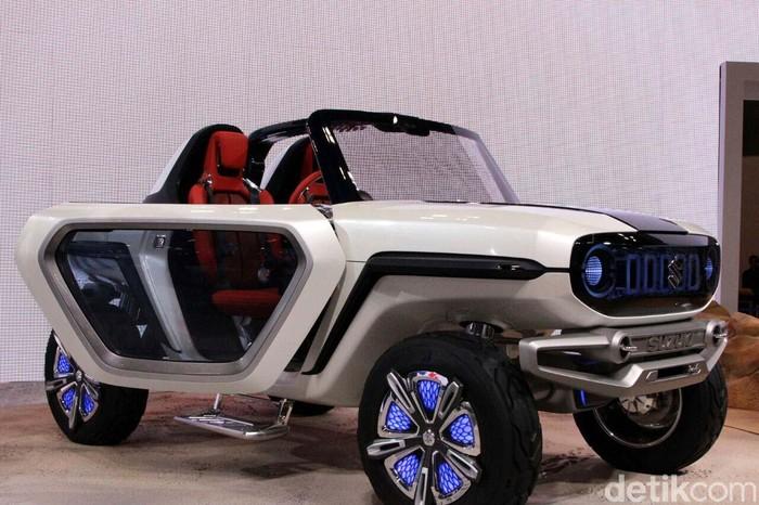 Suzuki e-Survivor, ini adalah sebuah SUV kecil bertenaga listrik yang bisa bertualang kemana saja. Mobil dipamerkan Suzuki di Tokyo Motor Show 2017.