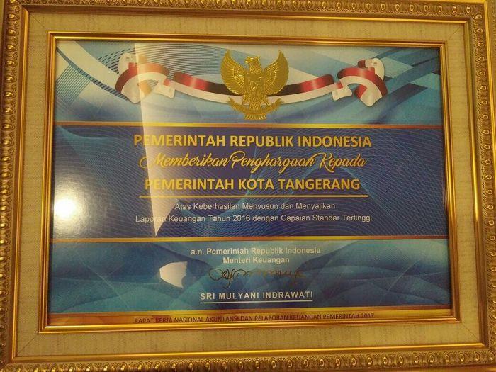 Foto: Pemkot Tangerang Capai Keuangan Standar Tinggi (Dok. Pemkot Tangerang)