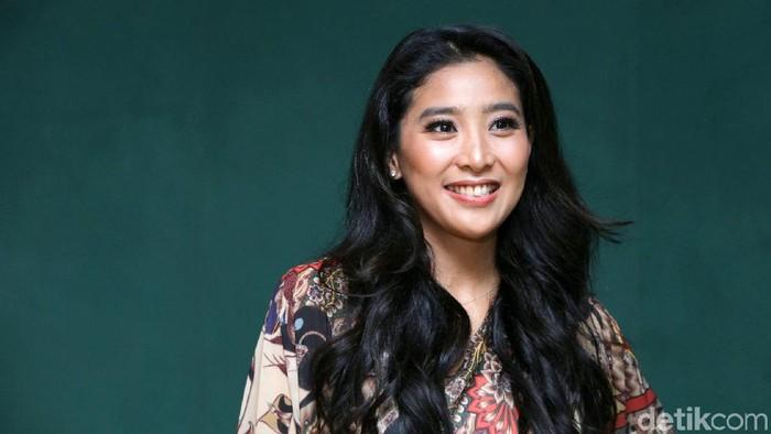 Olivia Zalianty saat ditemui di kawasan Taman Ismail Marzuki.