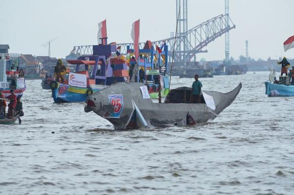 Lomba bidar dan perahu hias juga menggambarkan sejarah Palembang pada masa Kerajaan Sriwijaya. Ini juga jadi salah satu aset wisata Palembang (Raja Adil/detikTravel)