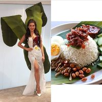 Ratu Kecantikan Malaysia Tampil Unik dengan Hiasan Daun Pisang di Miss Universe
