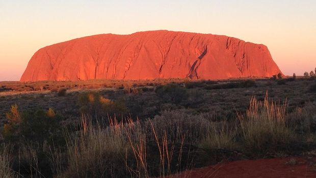 Taman Nasional Uluru di Australia.