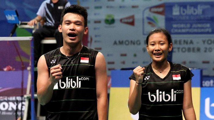Rinov Rivaldy/Pitha Haningtyas Mentari bertekad untuk menyingkirkan Hafiz Faizal/Gloria Emanuelle Widjaja di Indonesia Open 2019.  (dok. Humas PBSI)