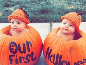 Lucu Banget, Bun! Ketika Anak Kembar Pakai Kostum Halloween