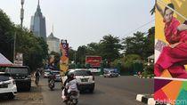 Sambut Asian Games, Tiang Bekas Monorel di Senayan Dipercantik