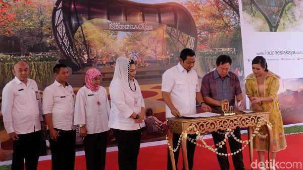 Intip Foto-foto Ground Breaking Taman Indonesia Kaya Semarang