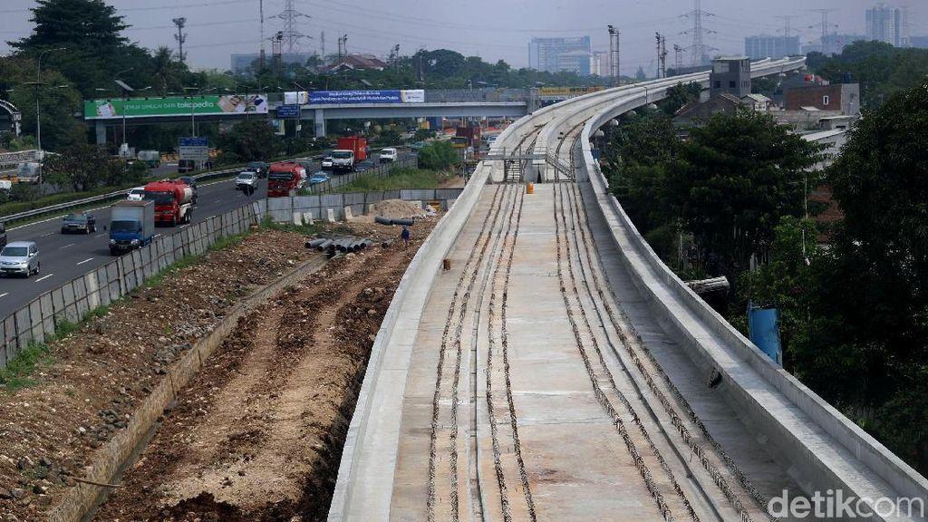 LRT Jabodebek Pakai Rel dari Jepang
