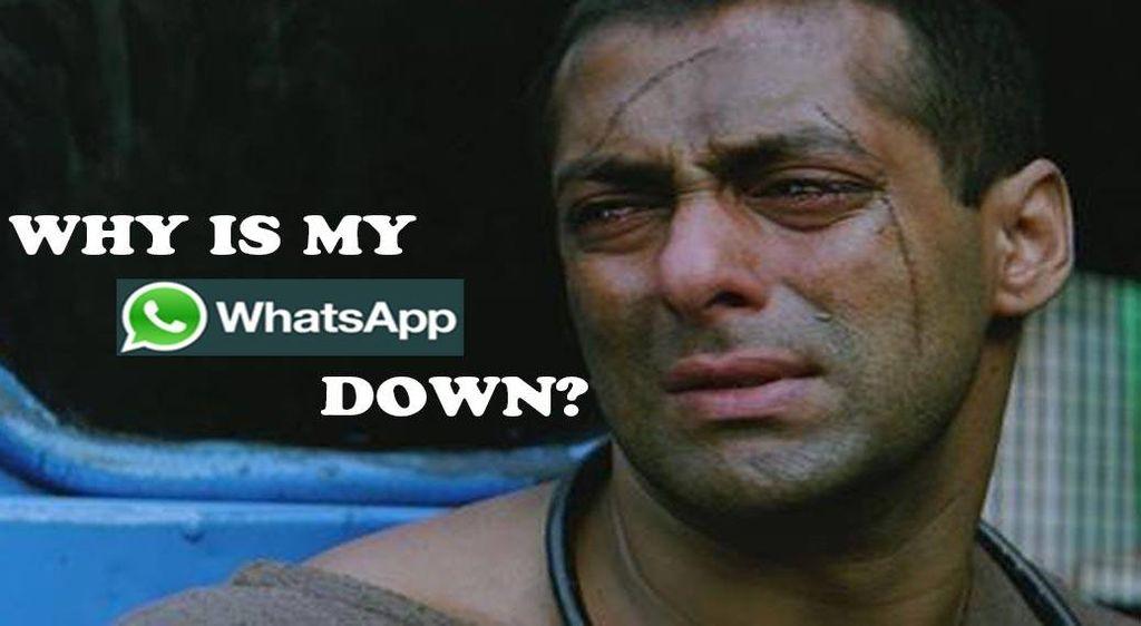 Salah satu adegan film yang menampilkan aktor Bollywood Salman Khan digunakan untuk menggambarkan kesedihan saat WhatsApp down. Foto: Istimewa
