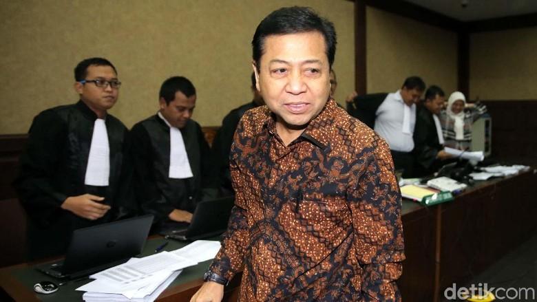 Novanto Hadiri Sidang e-KTP, Golkar: Bukti Dia Hormat Hukum
