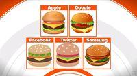 Ragam emoji burger di media sosial.