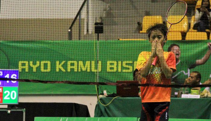 Alfira Deanika dari Jayaraya Satria Sleman berhasil mengalahkan unggulan pertama Rensy Helena Tanjung dari klub Victory Bogor dan menjadi juara kategori tunggal putri kelompok usia U-11 Sirnas-MiloBadminton Competition Pekanbaru. Pool/Sirnas-Milo.