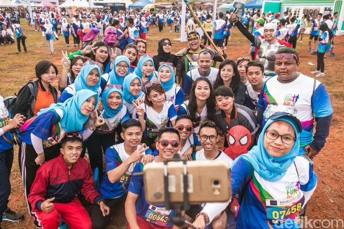 CT Fun Run diselenggarakan di Lapangan Sunburst, BSD, Tangerang Selatan.