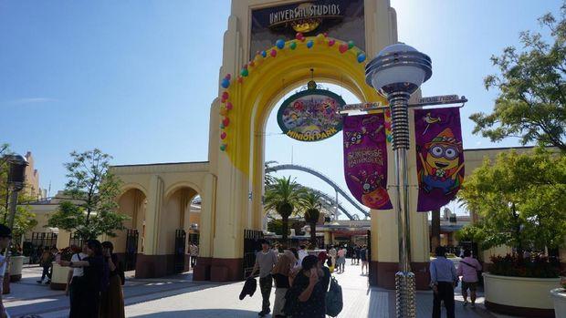 Gerbang masuk Universal Studios Jepang (Wahyu/detikTravel)