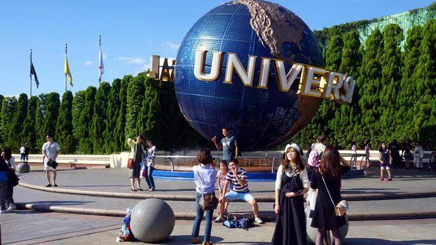 Bola dunia khas Universal Studios (Wahyu/detikTravel)