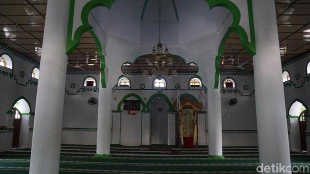 Bentuk ruangan dalam mesjid (Syanti/detikTravel)