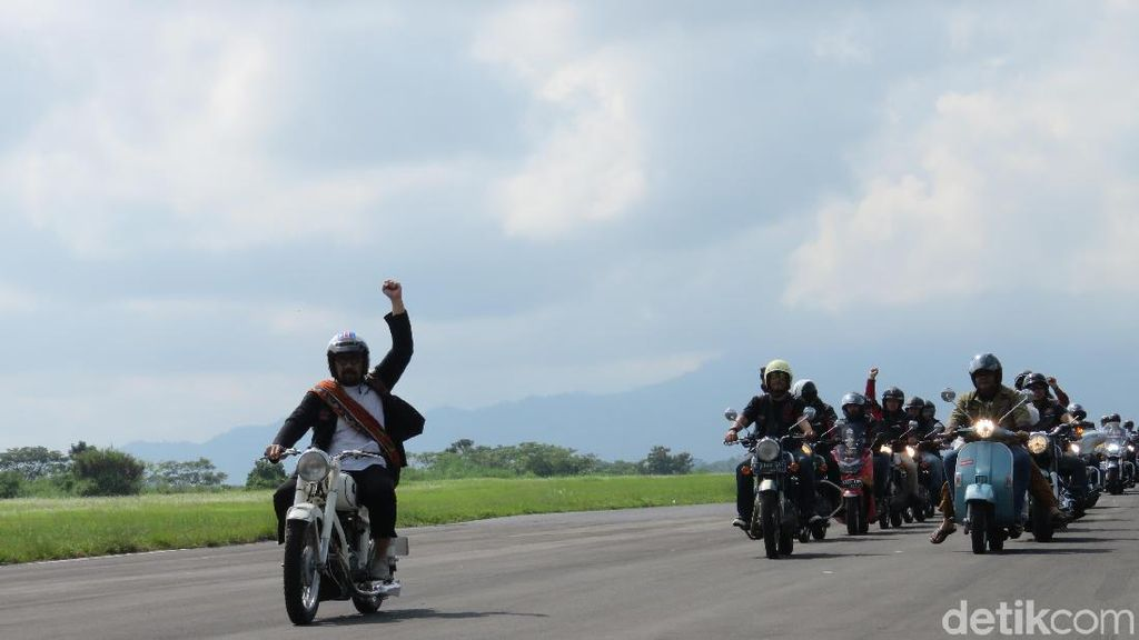 Ratusan Motor Konvoi di Lanud Wiriadinata Tasikmalaya