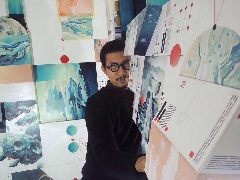 Pameran tunggal Radhinal Indra bertajuk Matters Matter yang menampilkan 11 karya seni. Foto: Dok.Radhinal Indra
