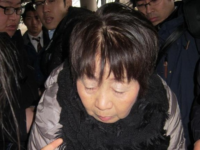 (FILES) This file photo taken on March 13, 2014 shows Japanese woman Chisako Kakehi, who was arrested on suspicion of poisoning her husband with cyanide in the latest