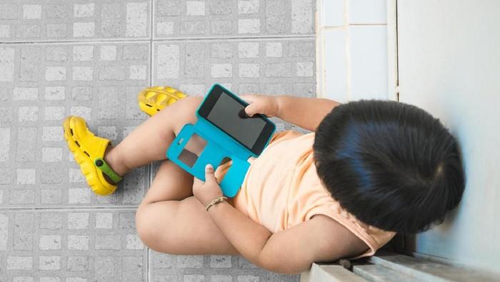 Ilustrasi anak dan gadget. (Foto: Thinkstock)