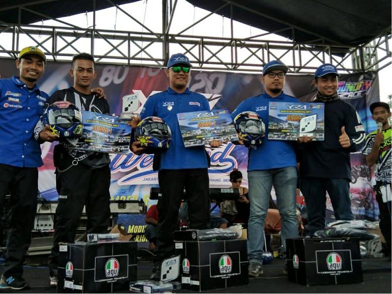Juara 1,2,3 instruktur terbaik Yamaha Riding Academy (YRA)/Foto: Yamaha