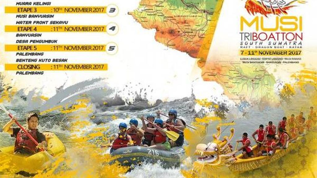 Resmi Dibuka! International Musi Triboatton 2017 Promosikan Wisata Sumsel