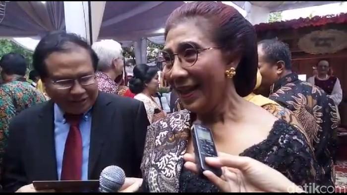 Menteri Susi mengingatkan pentingnya makan ikan di resepsi pernikahan Kahiyang Ayu (Foto: Bayu Ardi Isnanto/detikcom)
