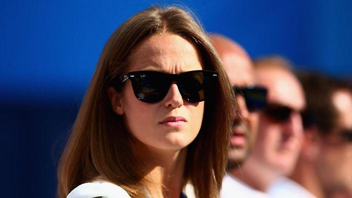 Kim Sears hampir selalu mendampingi Andy Murray di tribune penonton. (Jordan Mansfield/Getty Images for LTA)