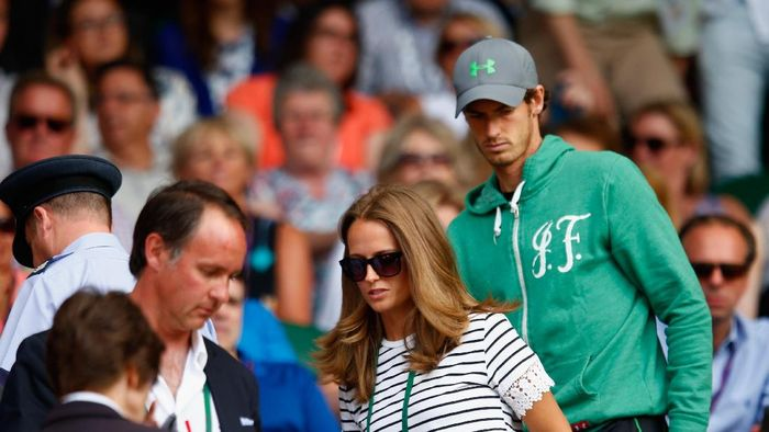 Andy Murray bersama istri, Kim Sears. (Julian Finney/Getty Images)