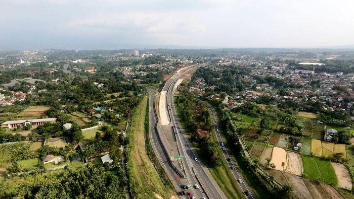 Begini penampakan salah satu ruas Tol Bogor-Ciawi-Sukabumi (Bocimi) yang sempat mangkrak. Dok. Waskita Toll Road.