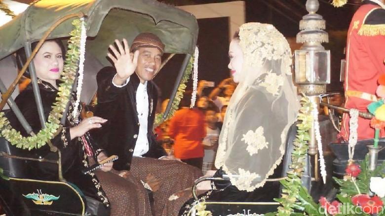 Resepsi Kahiyang Selesai, Jokowi ke Warga: Matur Nuwun