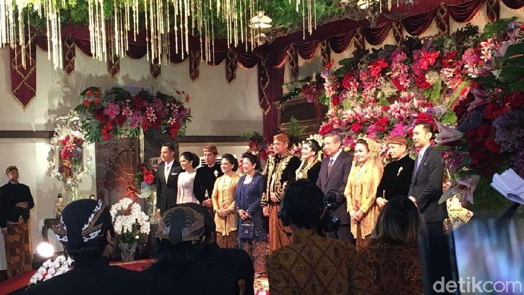 JK, Megawati Hingga SBY Salami Kahiyang-Boby yang Resmi Menikah