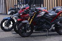 All New R15, All New Vixion, Xabre digunakan untuk training saat gathering nasional instruktur safety riding Yamaha Riding Academy (YRA)
