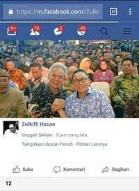 Facebook Zulkifli Hasan.