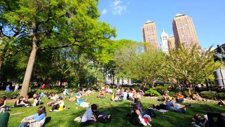 Penampakan Trotoar di Union Square New York yang Diinginkan Sandi