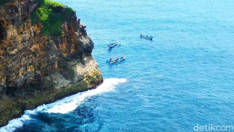 Pemancing di Gunungkidul Hilang Terjatuh di Tebing Pantai