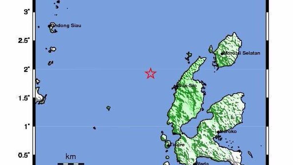 Gempa 5,3 SR Guncang Maluku Utara