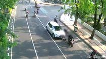 Pengemudi Mobil yang Tabrak 3 Motor di Surabaya Diduga Melamun