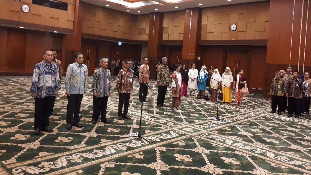 Sri Mulyani Lantik Pejabat Eselon II Kementerian Keuangan