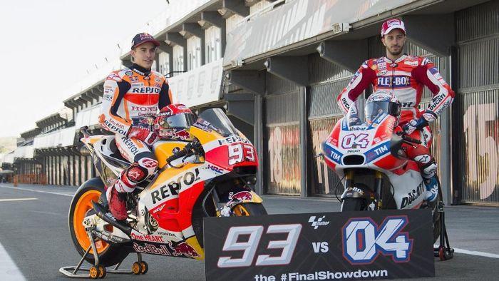 Marc Marquez dan Andrea Dovizioso diprediksi bersaing sengit lagi musim depan (Foto: Mirco Lazzari gp/Getty Images)