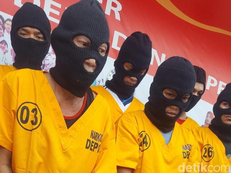 Polisi Bekuk 29 Pengedar Narkoba di Depok, di Antaranya Kakek Alwi