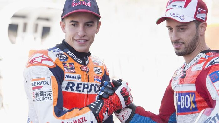 Marc Marquez dan Andrea Dovizioso (Mirco Lazzari gp/Getty Images)