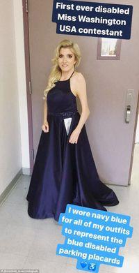 Madeline percaya diri ikuti Miss Washington AS dengan kondisinya.